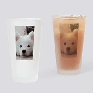 Samoyed Puppy Drinking Glass