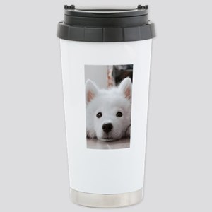 Samoyed Puppy Stainless Steel Travel Mug