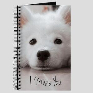 I MIss You Samoyed Puppy Journal