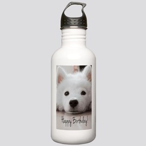 Happy Birthday Samoyed Stainless Water Bottle 1.0L