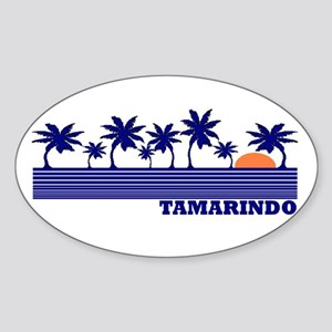 Tamarindo, Costa Rica Oval Sticker