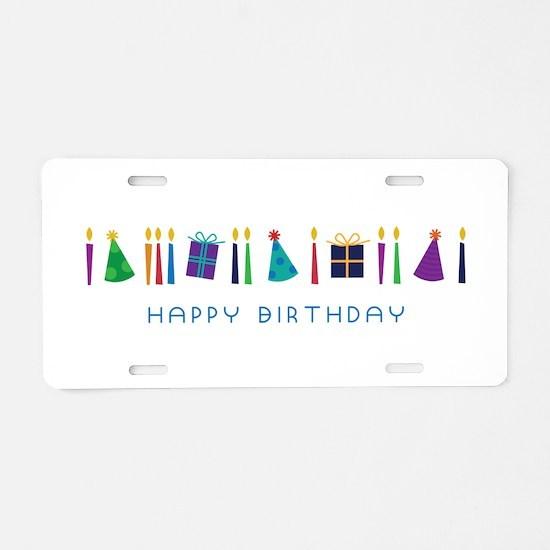 Happy Birthday Aluminum License Plate