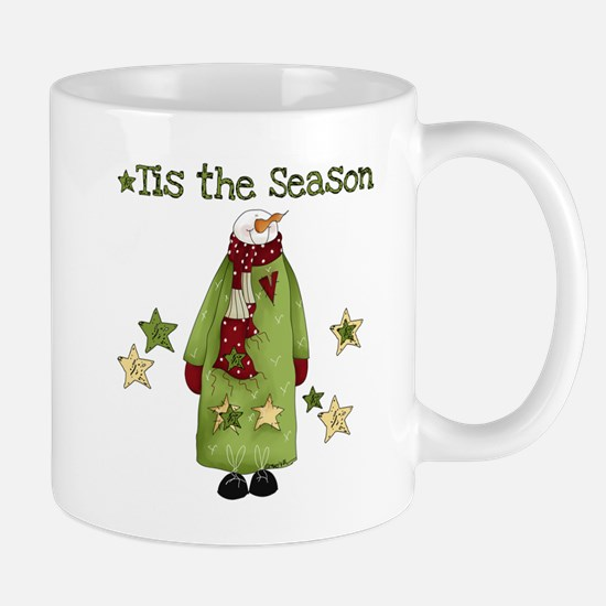 Snowman Tis the Season Mug