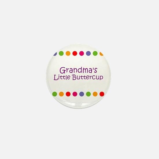Grandma's Little Buttercup Mini Button