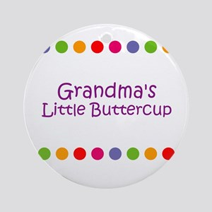 Grandma's Little Buttercup Ornament (Round)