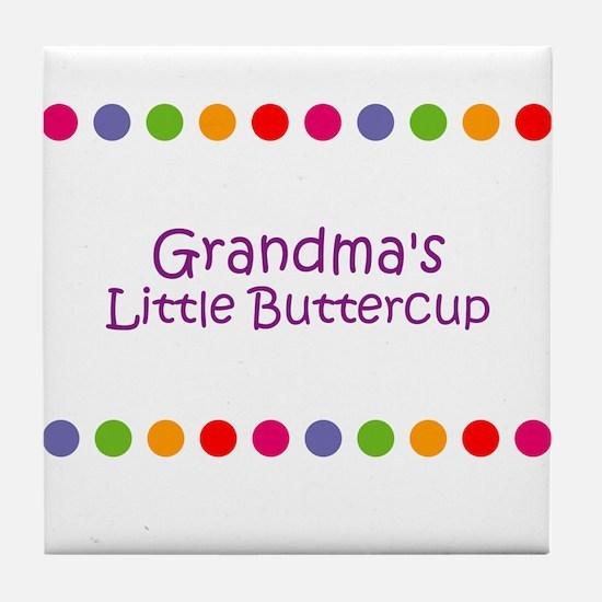 Grandma's Little Buttercup Tile Coaster