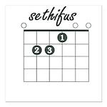 sethifus E chord Square Car Magnet 3
