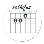 sethifus E chord Round Car Magnet