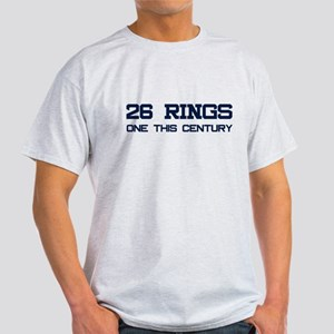 26 Rings. One This Century. Light T-Shirt