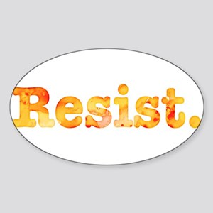 Resist. In Orange Sticker