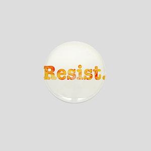 Resist. In Orange Mini Button