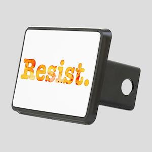 Resist. In Orange Rectangular Hitch Cover