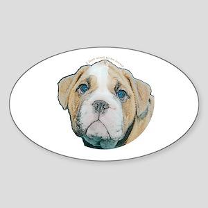 Bulldog Oval Sticker