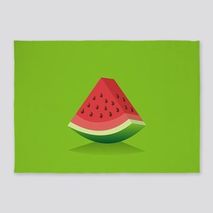 Watermelon Background 5'x7'Area Rug