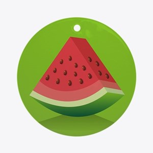 Watermelon Background Round Ornament