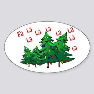 Christmas Carolers Oval Sticker