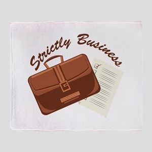 Strictly & Business Throw Blanket
