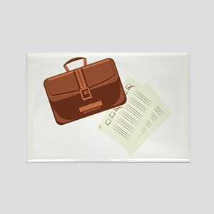 Briefcase & Papers Magnets