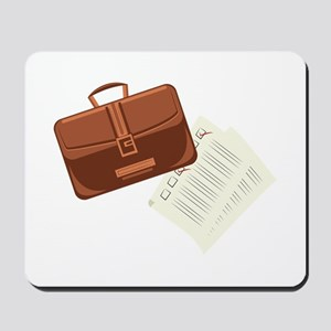 Briefcase & Papers Mousepad