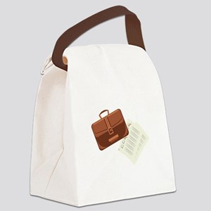 Briefcase & Papers Canvas Lunch Bag