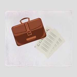 Briefcase & Papers Throw Blanket
