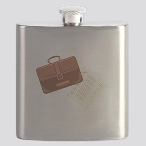 Briefcase & Papers Flask