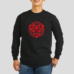 D20 Red Long Sleeve T-Shirt