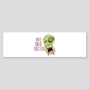 Zombie Fan Bumper Sticker