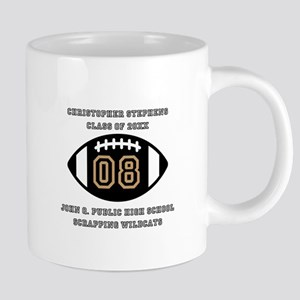 Custom Football Player Stainless Steel Travel Mugs