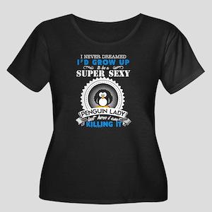 Super Sexy Penguin Lady Plus Size T-Shirt
