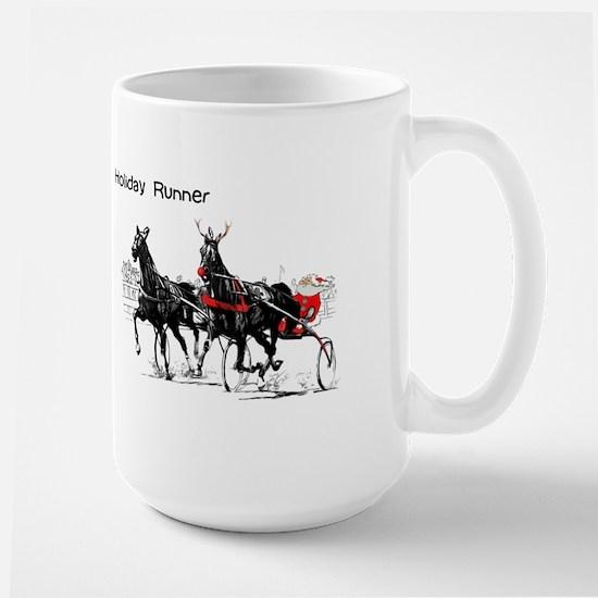 Santa Racing Large Mug
