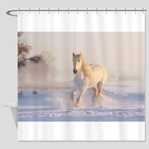 white horse h678 Shower Curtain