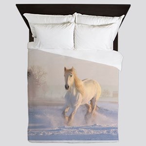 white horse h678 Queen Duvet