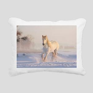 white horse h678 Rectangular Canvas Pillow