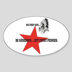 Count pennies big chief Sticker