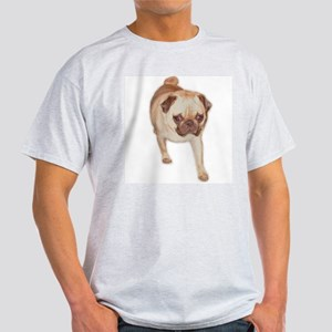 Pug Butts Ash Grey T-Shirt