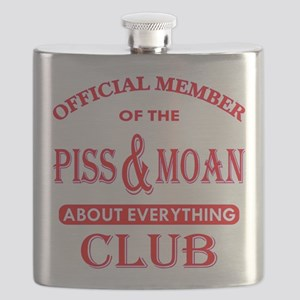 Member Piss And Moan Club Flask
