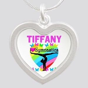 BEST GYMNAST Silver Heart Necklace