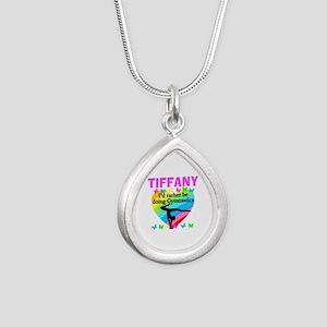 CHRISTIAN GYMNAST Silver Teardrop Necklace