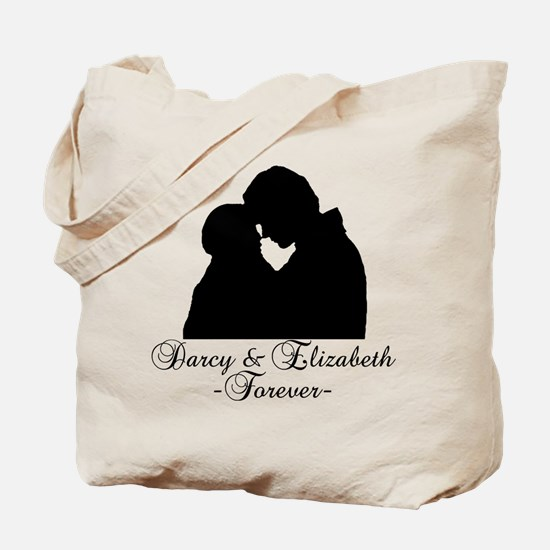 Darcy & Elizabeth Forever Silhouette Tote Bag