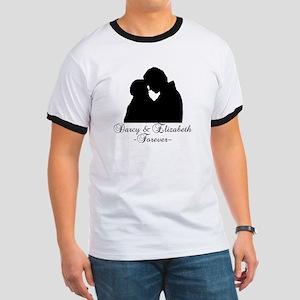Darcy & Elizabeth Forever Silhouette Ringer T