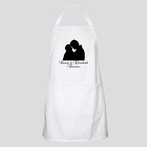 Darcy & Elizabeth Forever Silhouette BBQ Apron