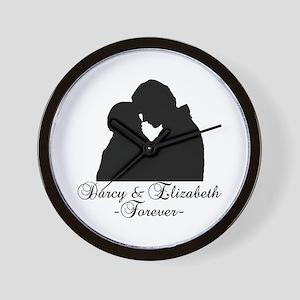 Darcy & Elizabeth Forever Silhouette Wall Clock