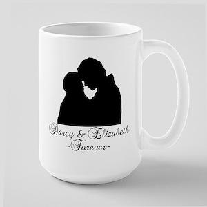 Darcy & Elizabeth Forever Silhouette Large Mug