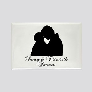 Darcy & Elizabeth Forever Silhouette Rectangle Mag