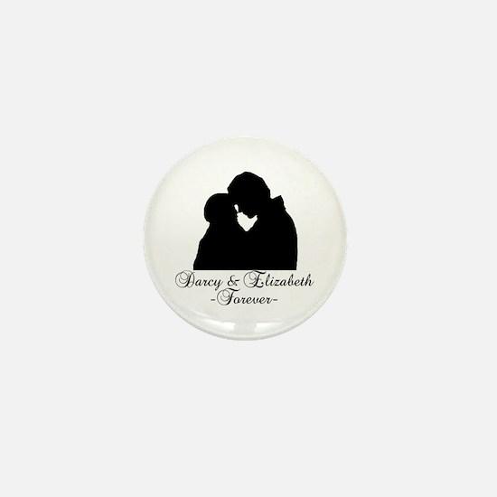 Darcy & Elizabeth Forever Silhouette Mini Button