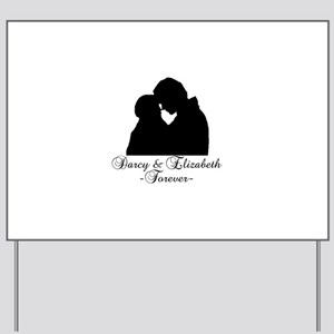 Darcy & Elizabeth Forever Silhouette Yard Sign