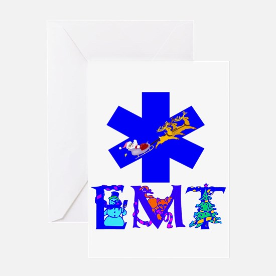 EMT Christmas Gifts Greeting Card