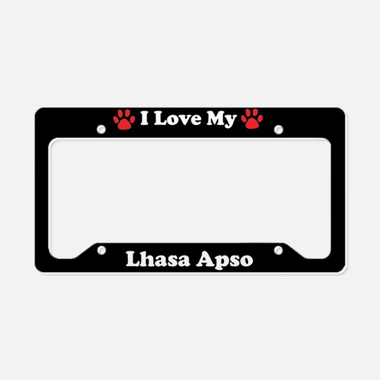 I Love My Lhasa Apso Dog License Plate Holder