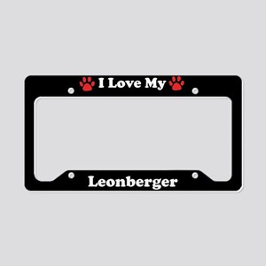 I Love My Leonberger Dog License Plate Holder